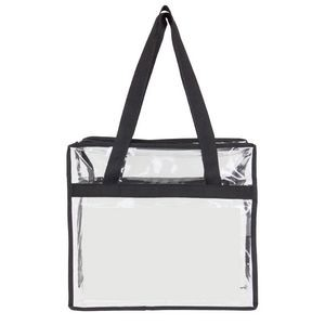 Clear Zippered Stadium Tote